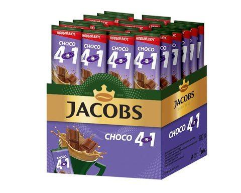 Кофе растворимый Jacobs 4 в 1 Choco, 24 стика