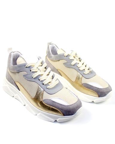 серо-золотые кроссовки Alpino