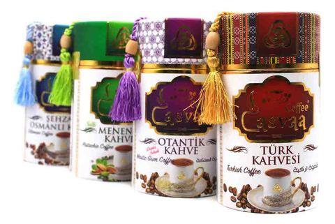 Турецкий кофе молотый с добавлением кэроба и кардамона, Casvaa, 250 г