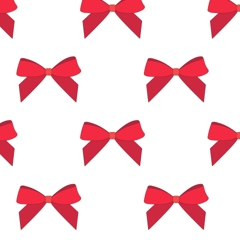 Red bow seamless pattern.