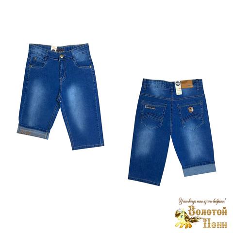 Бриджи джинсовые мальчику (6-11) 210424-B-56355