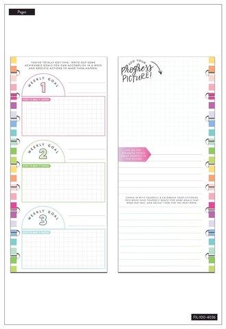 Внутренний блок  для ежедневника- Filler Paper - Half Sheet - Classic-Fitness -60шт