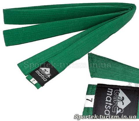 Зеленый пояс Matsa 280 см для кимоно