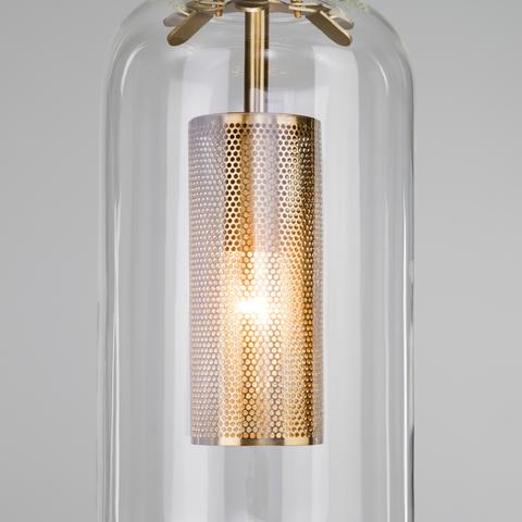 Подвесной светильник со стеклянным плафоном 50201/1 бронза