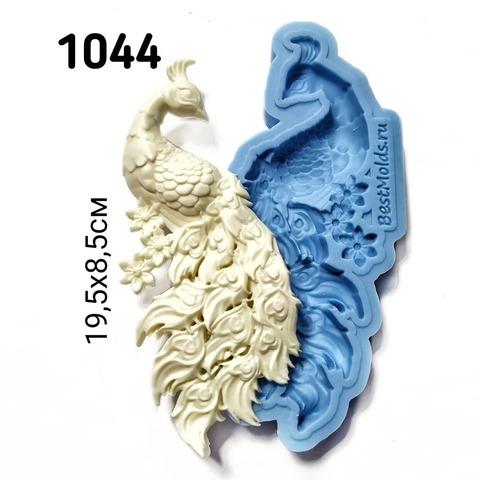 1044 Молд силиконовый. Павлин большой (правый).