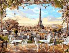 Картина по номерам Парижская терасса 50х40 см