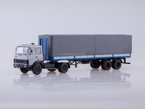 MAZ-5432 with semitrailer MAZ-93971 gray-blue 1:43 AutoHistory