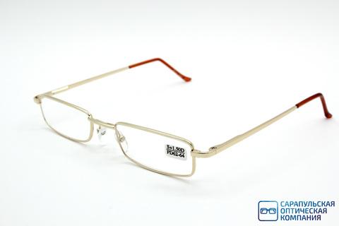 Очки готовые для зрения лектор  в узком металлическом футляре ELIFE 5070 GOLD (