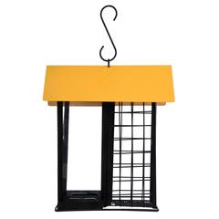 Кормушка для птиц металлическая (сыпучий корм/фрукты), 19х15х21,5 см
