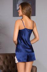 Комплект натуральный шёлк синий