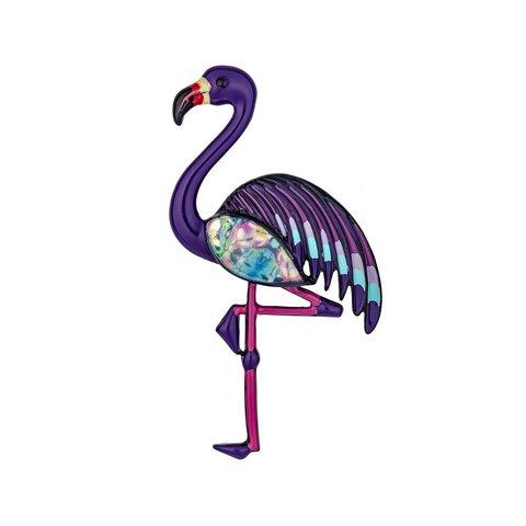 Брошь Фламинго XZ0403.11 V/BW
