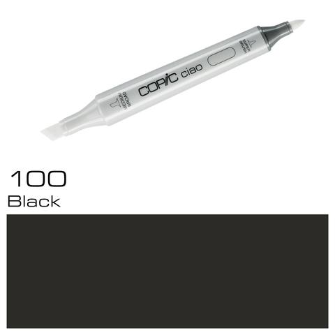 Маркер Copic Ciao двухсторонний на спирт.основе цв.100 черный