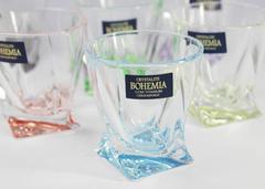 Набор из 6 цветных стопок для водки Quadro Ассорти, 55 мл, фото 9