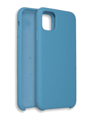 Чехол для iPhone 11 ProMax Софт тач мягкий эффект | микрофибра голубой