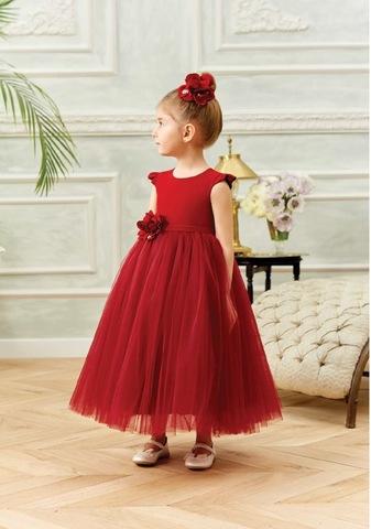 Нарядное платье в бордовом цвете (арт.9216)