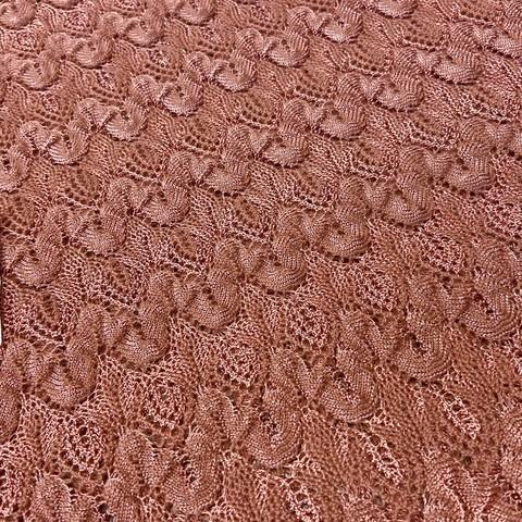 Ткань трикотаж Missoni  терракотовый цвет 3142