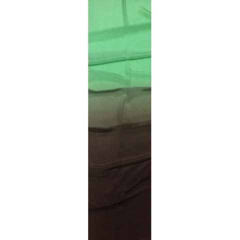 Шелковый шарф батик Мята и шоколад С-88