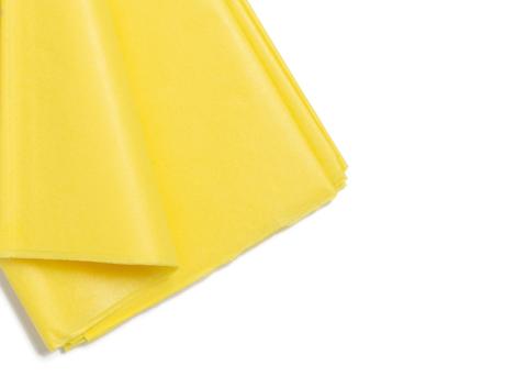 Бумага тишью 50*66 см (10 листов) цв. Желтый  Китай