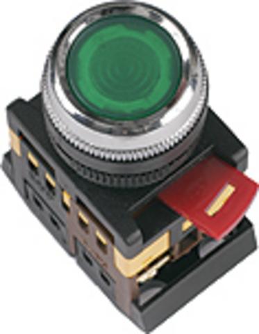 Кнопка ABLFS-22 прозрачн. d22мм неон/230В 1з+1р TDM