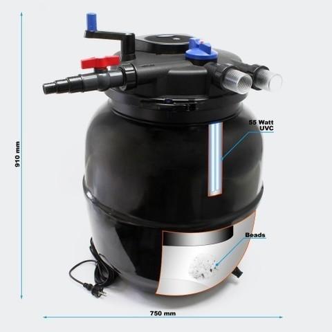 Напорный фильтр для пруда и водоема до 80м3 Pondtech CPF-50000