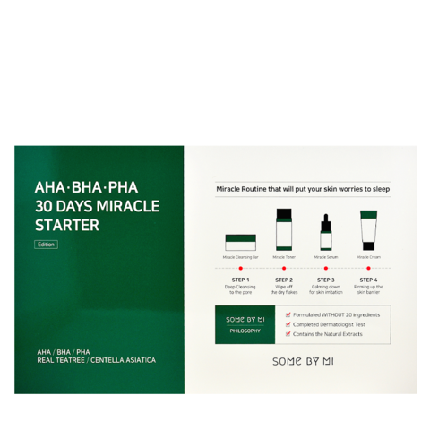 Набор Средств С Кислотами Для Проблемной Кожи SOME BY MI 30 Days Miracle Starter AHA-BHA-PHA