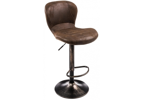 Барный стул Hold vintage 45*45*89 Черный /Коричневый