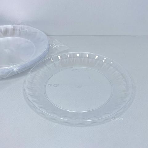 Тарелка 160мм стеклоподобная прозрачная (10 шт.)