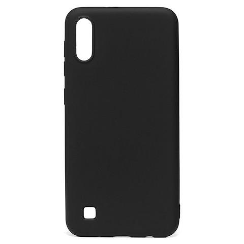 Чехол для Samsung (A105) Galaxy A10 Софт тач мягкий эффект | микрофибра черный