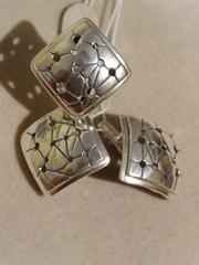Аранеа (кольцо + серьги из серебра)