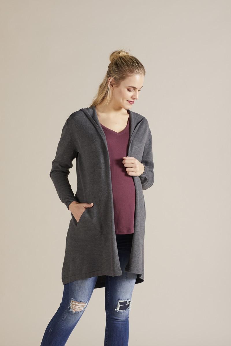 Кардиган для беременных 09796 серый меланж