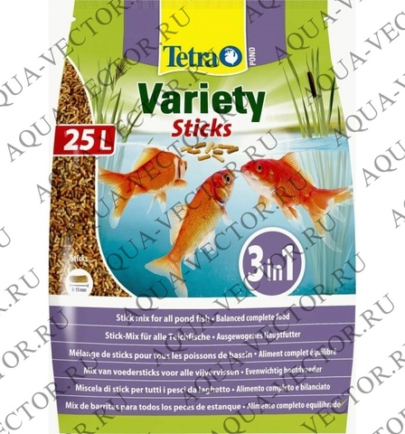 Корм Tetra Pond Variety Sticks 25л (мешок)