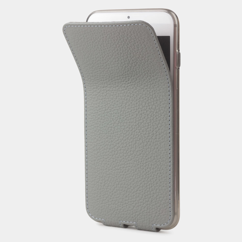 Чехол для iPhone 8/SE из натуральной кожи теленка, стального цвета