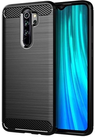 Чехол для Xiaomi Redmi Note 8 Pro цвет Black (черный), серия Carbon от Caseport