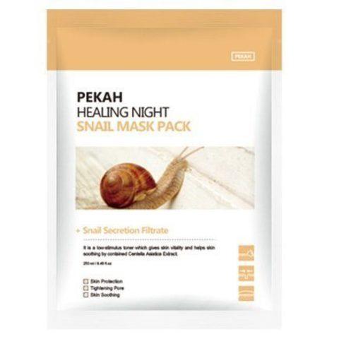 PEKAH Вечерняя восстанавливающая маска с муцином улитки Healing Night Snail Mask Pack, 25ml