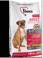 Сухой корм Корм для взрослых собак, 1st Choice Adult, с чувствительной кожей и для шерсти, с ягненком, рыбой чувствит_эдалт.png