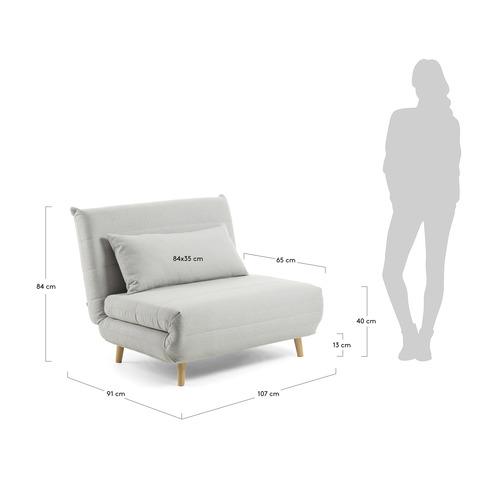 Диван-кровать Ambito 105 светло-серый