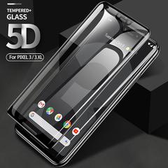 Защитное стекло 5d для Google Pixel 3 XL (Full Glue полная проклейка, черная рамка)