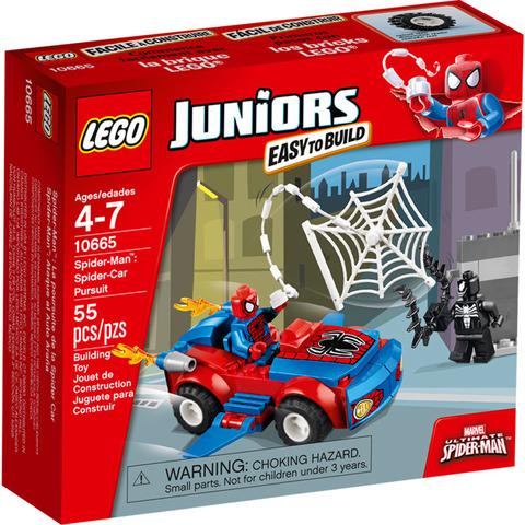 LEGO Juniors: Автомобиль Человека-паука 10665 — Spider-Man: Spider-Car Pursuit — Лего Джуниорс Подростки
