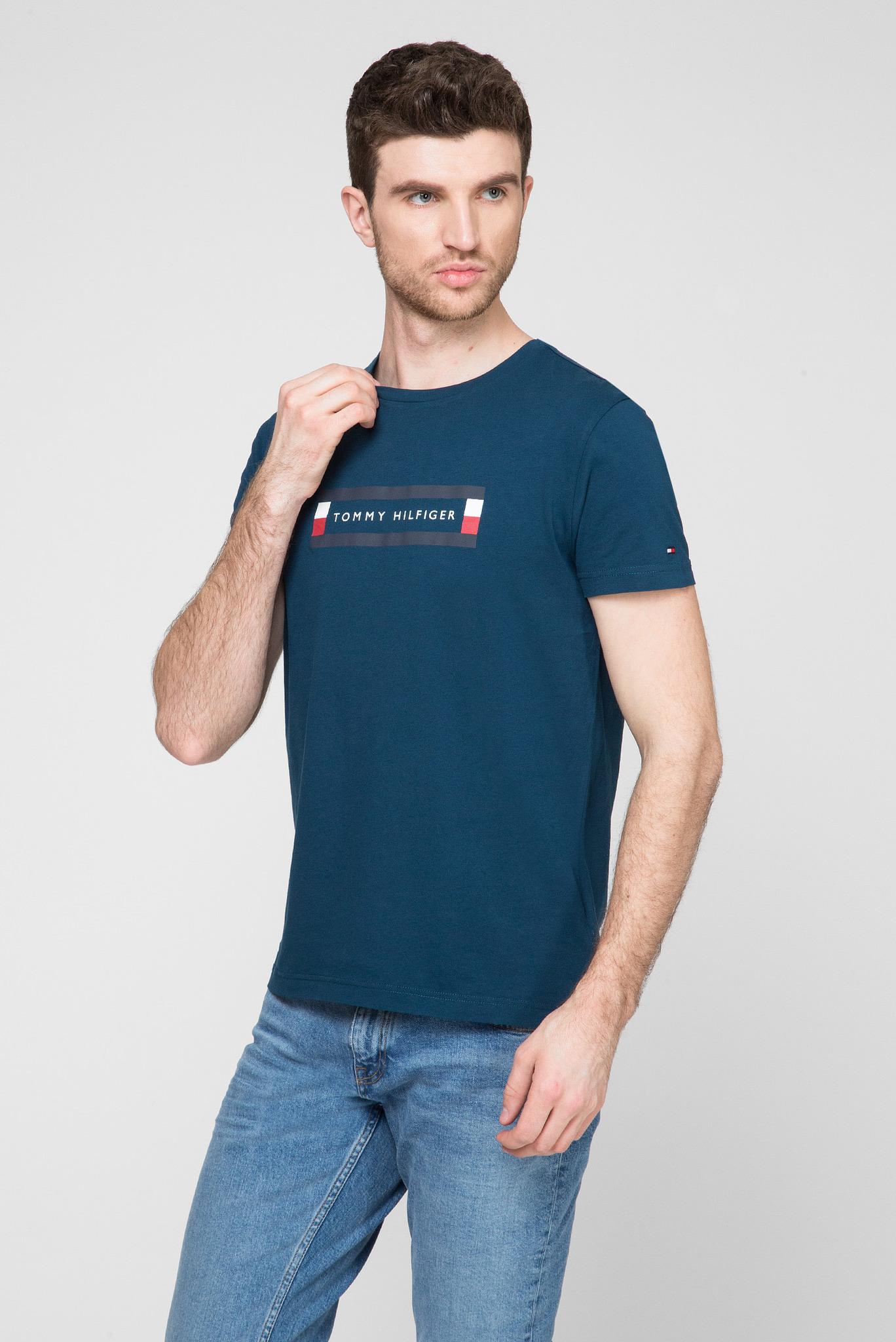 Мужская синяя футболка CORP BOX LOGO Tommy Hilfiger
