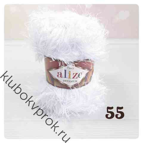 ALIZE DECOFUR 55, Белый