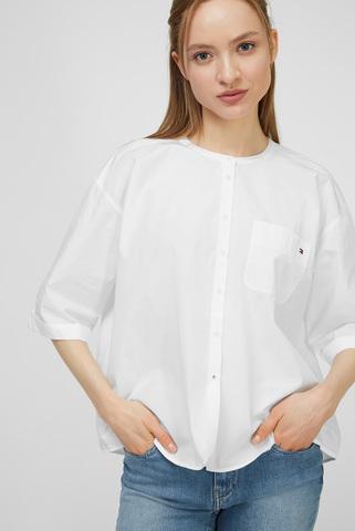 Женская белая рубашка CRISP POPLIN RELAXED SHIRT SS Tommy Hilfiger