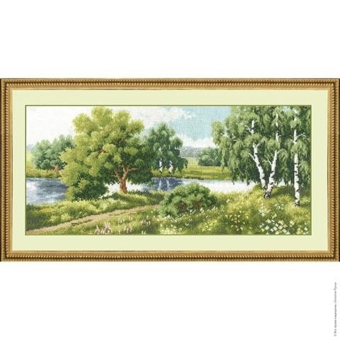 Размер: 17,5×38 см;¶Канва: Аида белая 16;¶Вышивается в 2 нити;¶Количество цветов: 42.