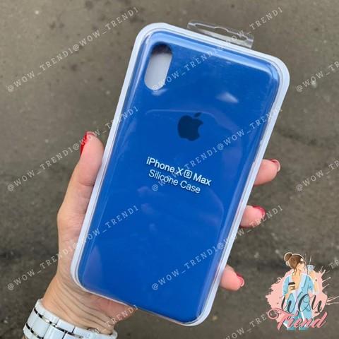 Чехол iPhone XS Max Silicone Case /delft blue/ голландский синий original quality