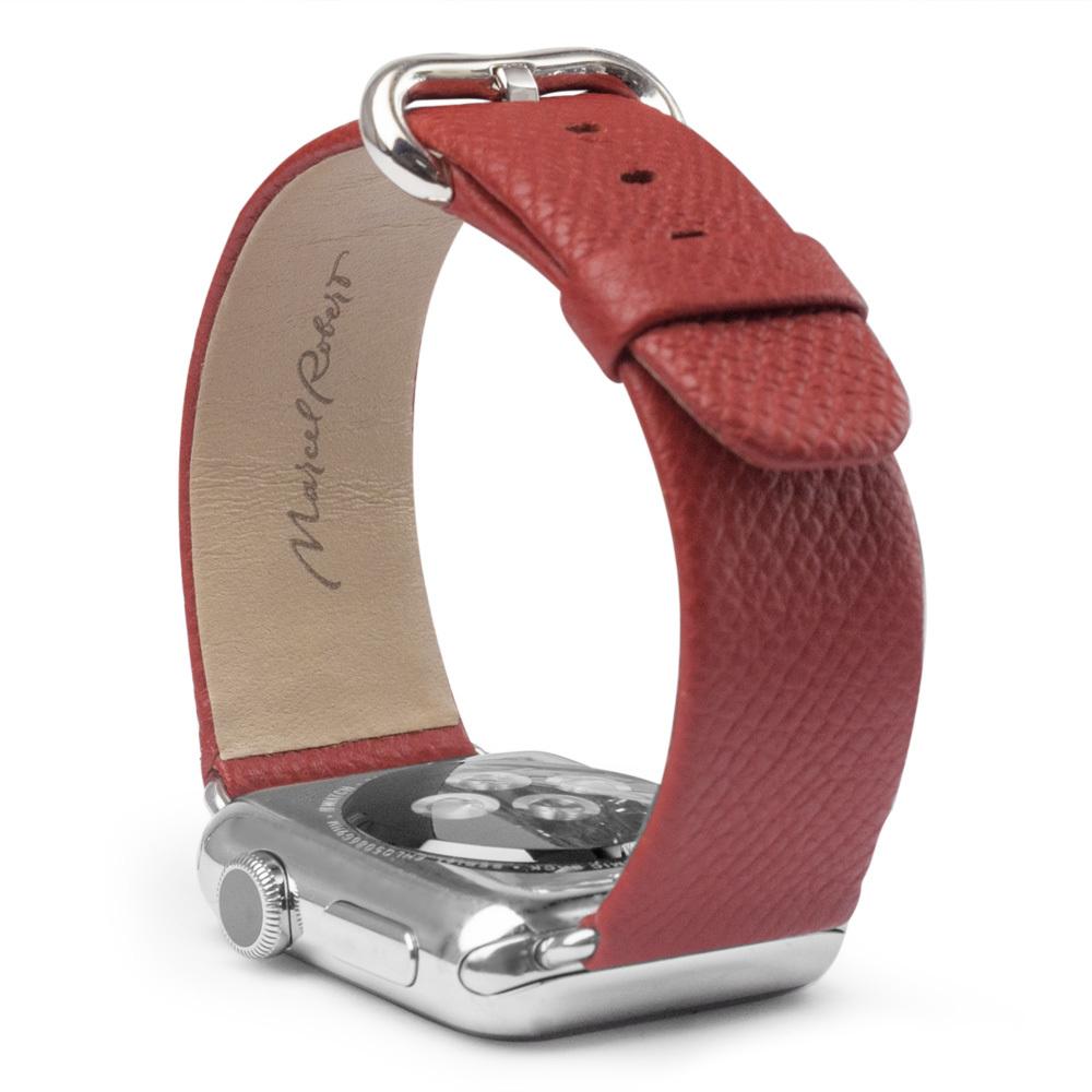Ремешок для Apple Watch 42/44мм XL Classic из натуральной кожи теленка, цвета кетчуп