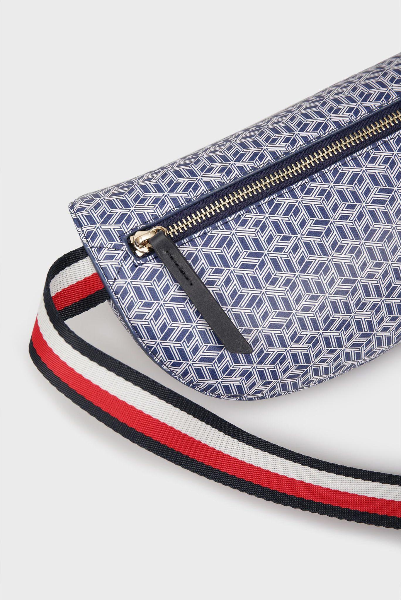 Женская синяя поясная сумка с принтом ICONIC Tommy Hilfiger