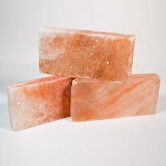 Плитка из гималайской розовой соли 200x100x25 мм шлифованная