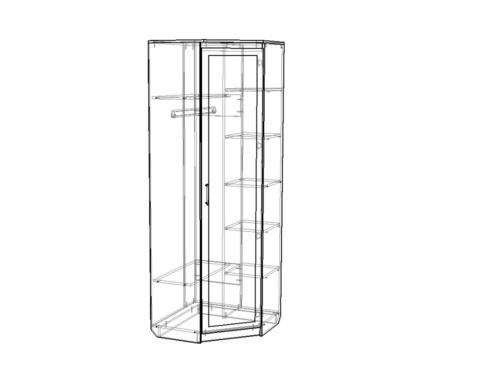 Шкаф ВЕНА угловой с зеркалом /763*2100*763/ правый