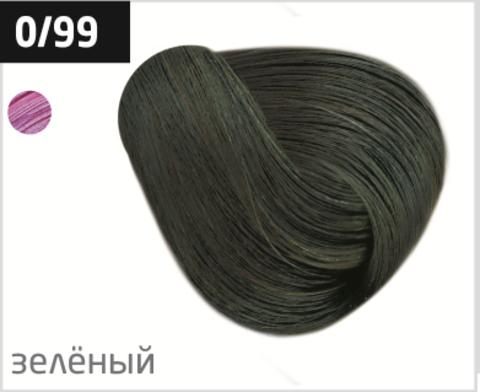 OLLIN performance 0/99 зеленый 60мл перманентная крем-краска для волос
