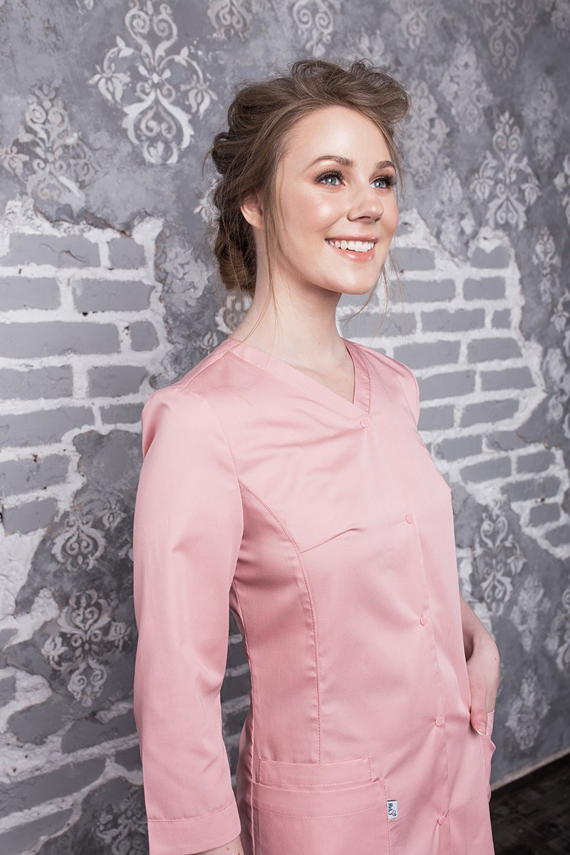 Медицинский халат Х-250 пудрово-розовый