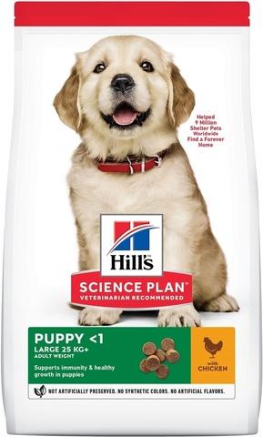 Сухой корм для собак Hill's Science Plan Puppy Healthy Development Large Breed с курицей для щенков крупных пород, 12 кг